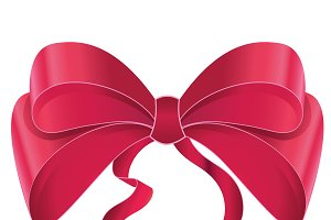 Nice red bow for gifts