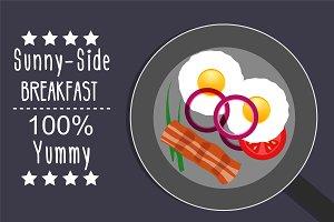 Sunny-side breakfast