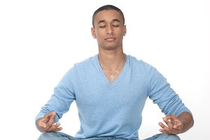 Man sitting in the lotus position
