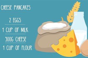 cheese pancakes ingridients