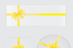 Yellow rosette ribbon