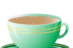 Vector illustration of green cup