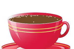 Vector illustration of red cup