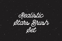Realistic Stars Brush Set