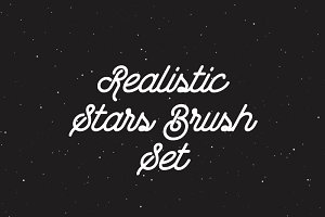 Realistic Stars Brush Set