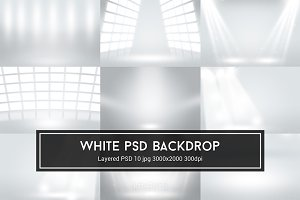 Infinite White Room PSD Backdrop