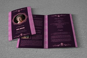 Funeral Program Template-T385