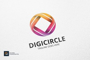 DIGI CIRCLE - Logo Template