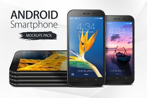 Android Smartphone Mockups Pack 1