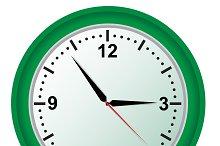 Clock, vector, illustration
