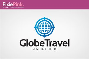 Globe Travel Logo Template