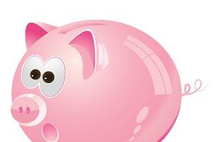 Piggy, Moneybox, pink