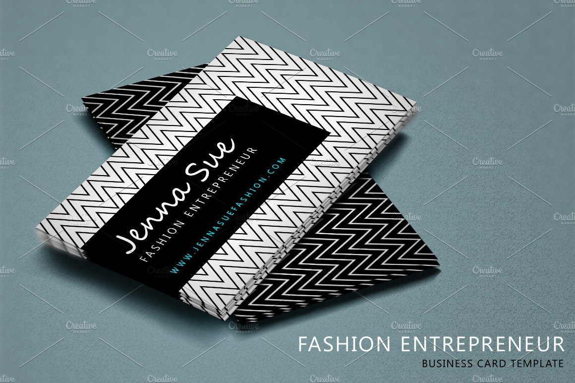 Fashion Entrepreneur ~ Business Card Templates ~ Creative Market