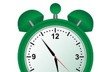 Alarm, clock, green