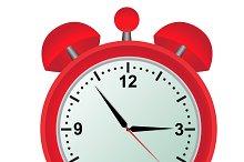 Alarm, clock, red
