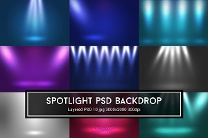 Spotlights PSD Backdrops