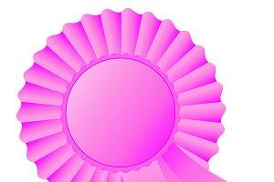 Rosette ribbon, pink