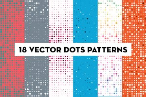 Vector Dots Pattern Backgrounds