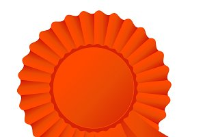 Rosette ribbon, dark orange