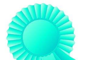 Rosette ribbon, turquoise