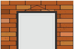 Seamless, brick, wall, frame