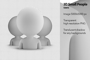 3D Small People - Users