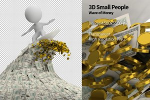 3D Small People - Wave of Money