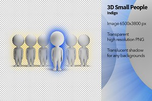 3D Small People - Indigo