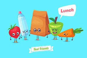Best friends. Lunch