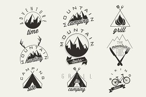 Symbols for Mountain Expedition
