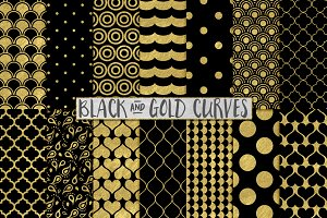 Black and Gold Foil Backgrounds