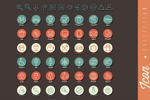 Universal icons illustration