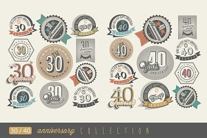 30 and 40 anniversary collection