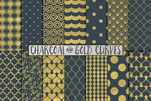Grey and Gold Foil Backgrounds