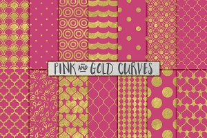 Pink and Gold Foil Backgrounds