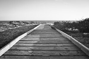 Boardwalk in the beach