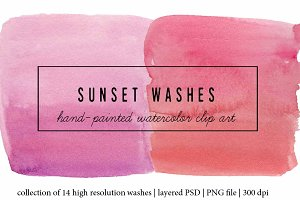 Sunset Washes Watercolor Collection
