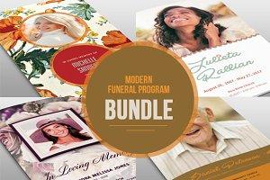 Modern Funeral Program Bundle