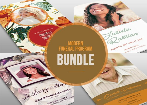 Modern Funeral Program Bundle