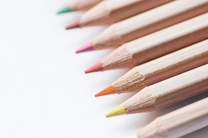 Art Pencil Close-up Styled Stock