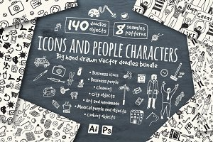 Vector icons and people characters