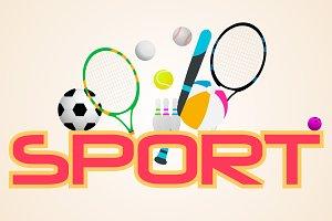 Sport concept. Vector
