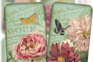Shabby Chic Floral Art Card Set
