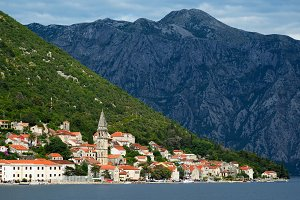 Town Perast in Bay of Kotor