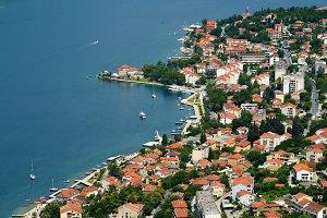 Town Dobrota in Bay of Kotor