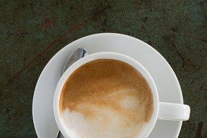 White coffee iron table