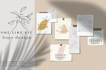 ONE LINE LOGO DESIGN KIT by  in Templates
