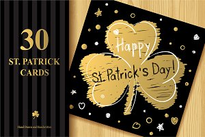 St. Patrick`s Day Greeting Cards Set