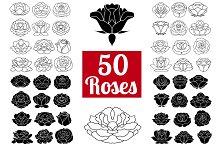 50 Rose Flowers: Logo Bundle
