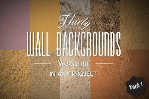 30 Wall Backgrounds - Pack#1